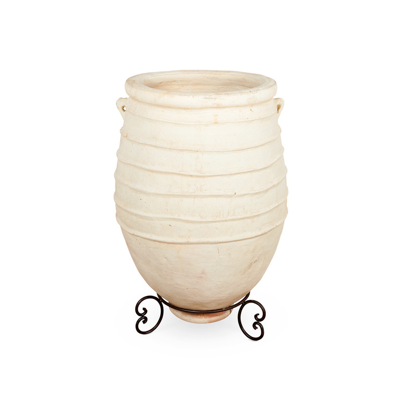 Giant Clay Pot on Stand