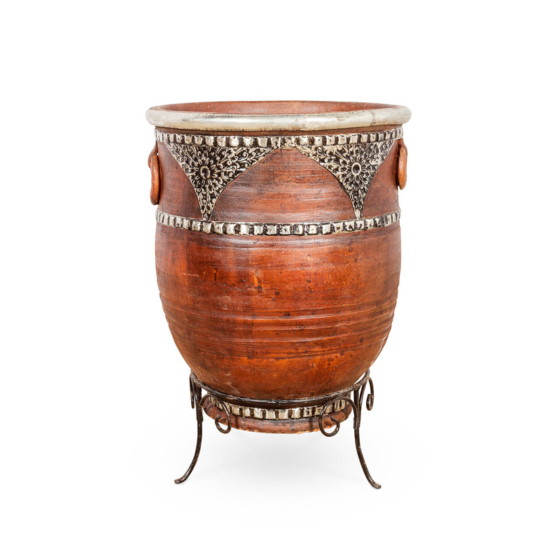 African Outdoor Clay Pot