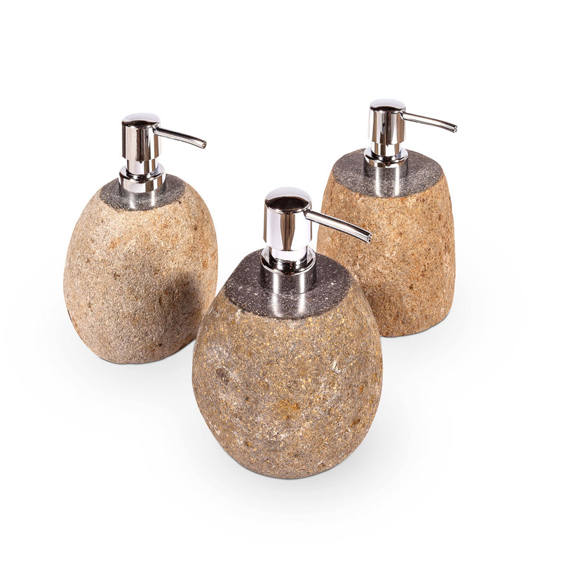 stone soap dispenser