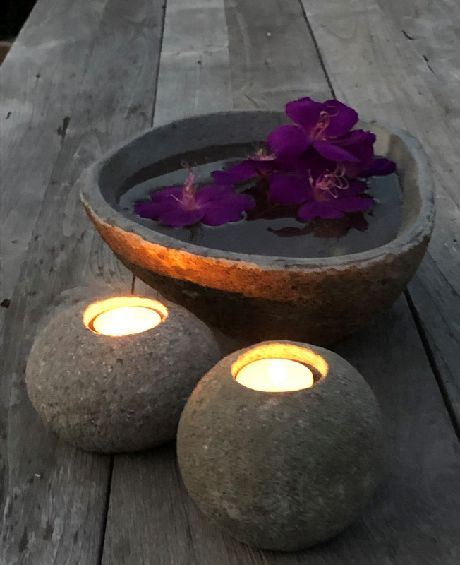 Natural Stone Candle Holder