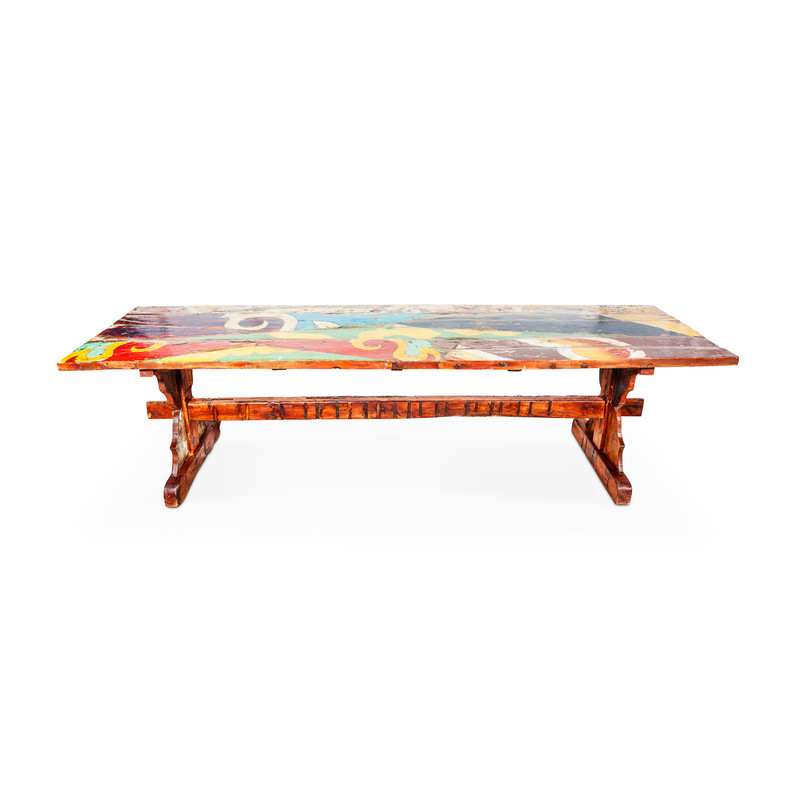 boat timber large dining table