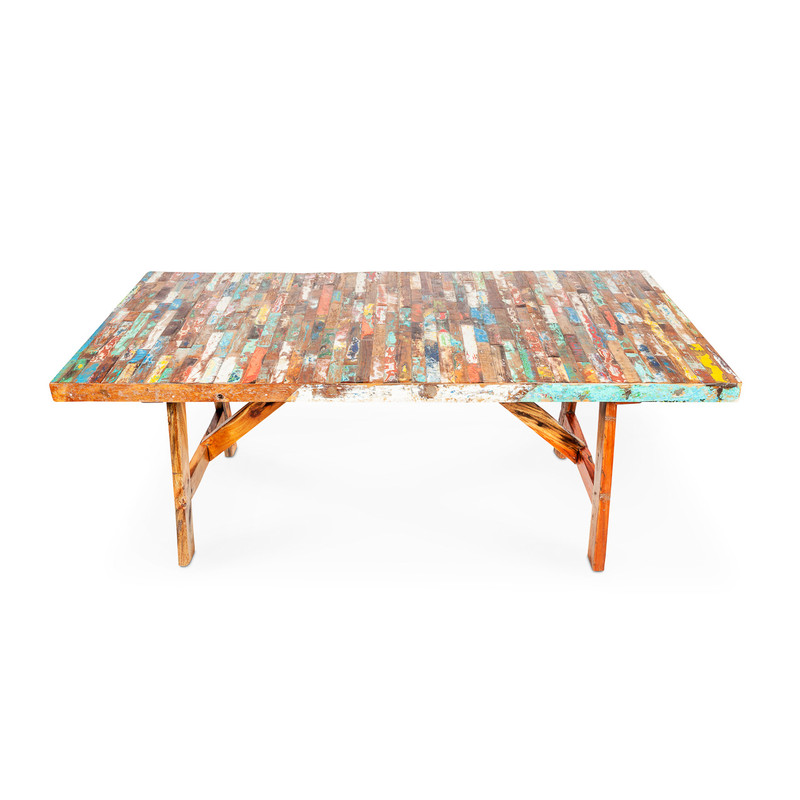 boat timber dining table