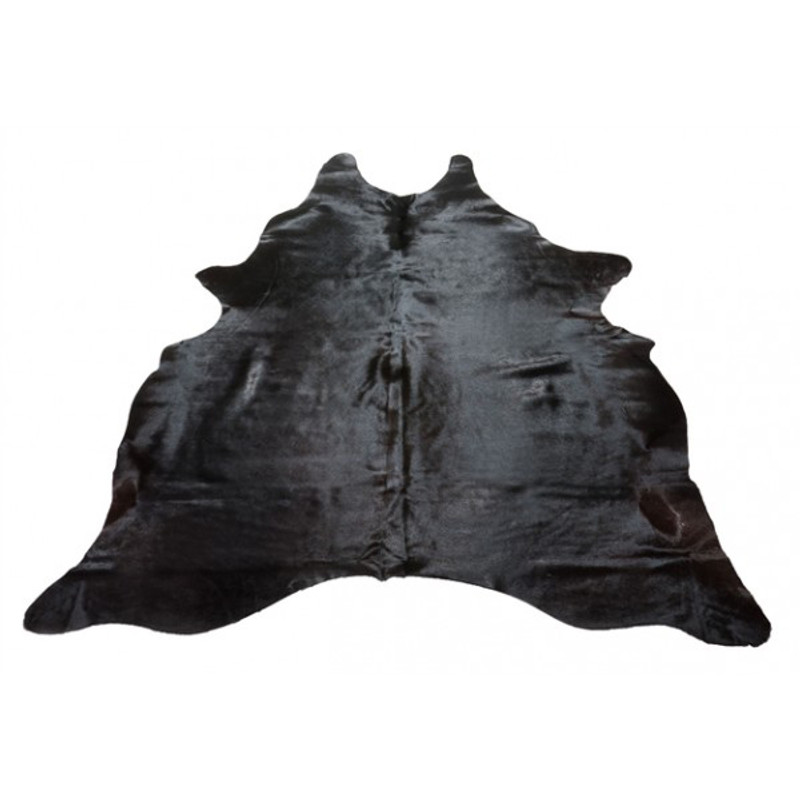 Natural Cow Hide Rug Black - add earthy texture and luxury to your living room with this natural cowhide rug in black.