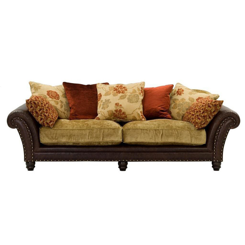 Colorado 3 Seater Sofa - A beautiful, classic 3 seater sofa from our 100% Australian made furniture range.The base of the sofa is upholstered in Laguna leather and the seat cushions are upholstered in Zeppel fabric.  Leather and fabric colour choices available - scatter cushions cannot be altered.