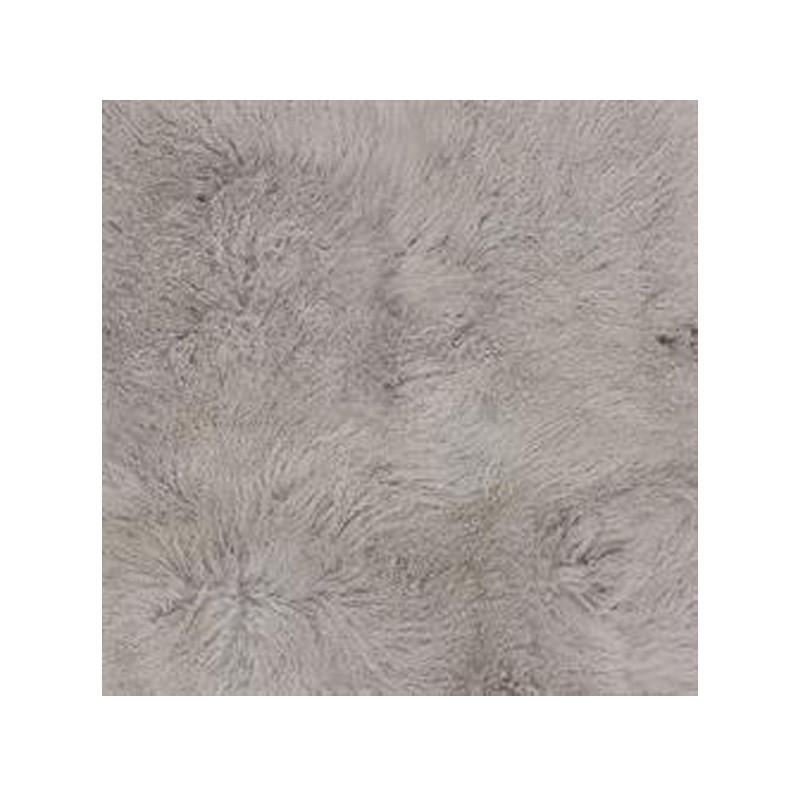 Mongolian Sheepskin Throw Light Grey. Add warmth, texture and luxury to your space with this naturally silky soft sheepskin throw rug in light grey. Detail view.