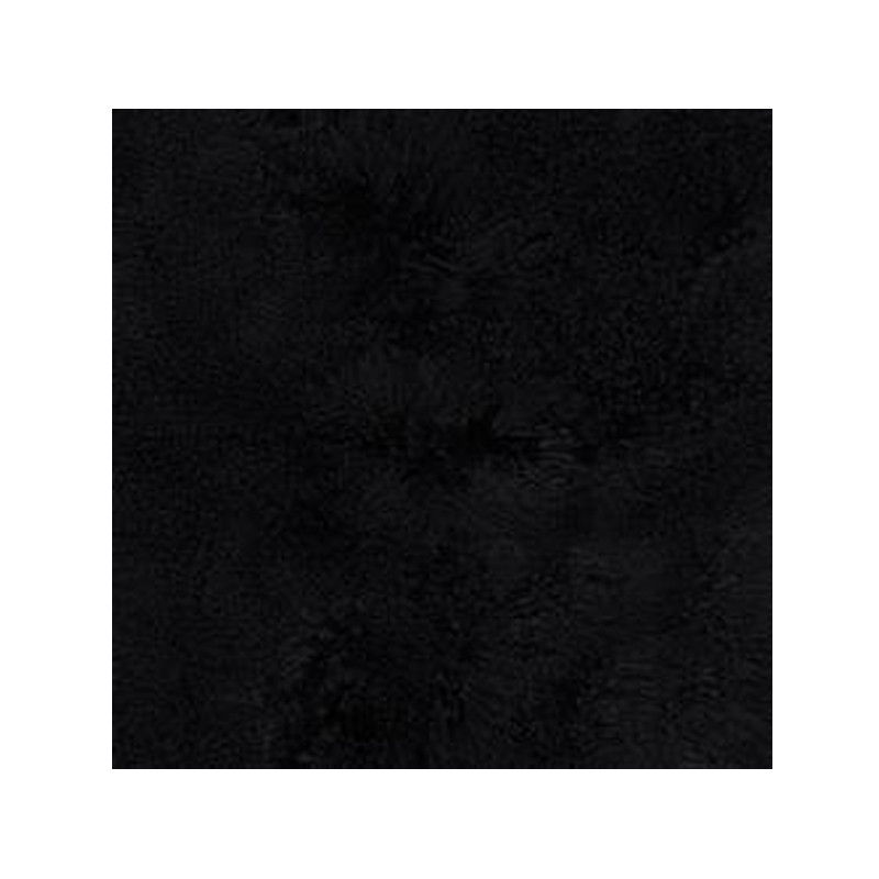 Mongolian Sheepskin Throw Black. Add warmth, texture and luxury to your space with this naturally silky soft sheepskin throw rug in black. Detail view.