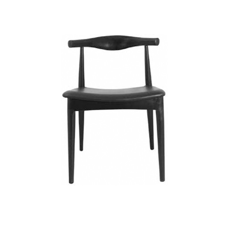 Elbow Dining Chair Black - bring a touch of mid Century styling to your space. The Elbow Dining Chair is where utility and design meet, channelling the sleek lines of mid Century Don Draper style but equally at home in a Scandi dining design theme.
