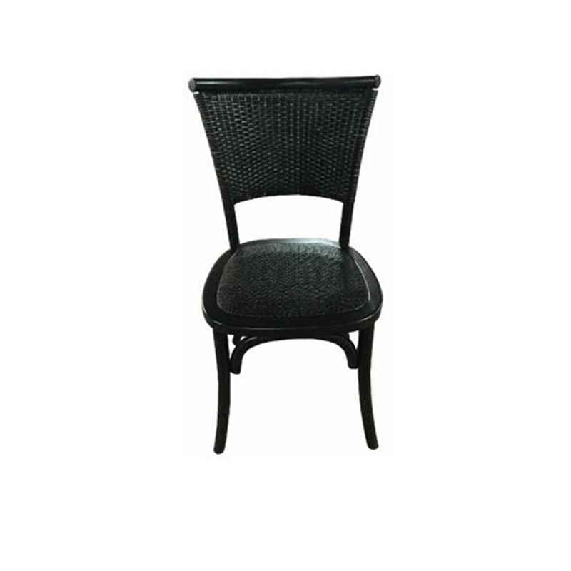 With its rubbed back timber, wicker back and seat, and classic design, this neutral black dining chair brings character, warmth and comfort to your dining experience.