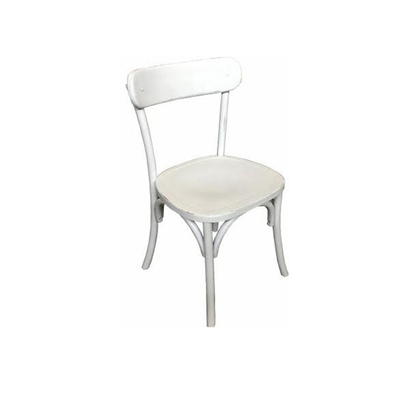 Regatta Dining Chair White - Classic dining chair design which will add a simple clean line to eclectic, vintage, and modern clean line dining settings.