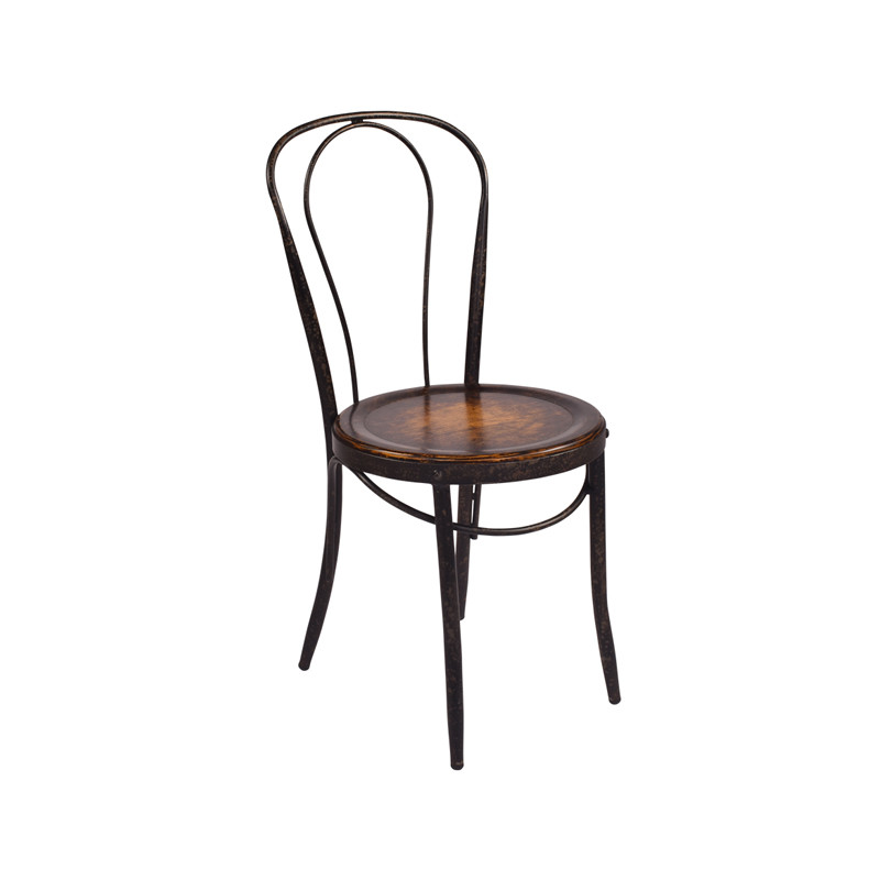 Like to feel as though you are sipping a leisurely coffee in a French Café? Meet our Parisian Dining Chair with oak seat - three quarter view.