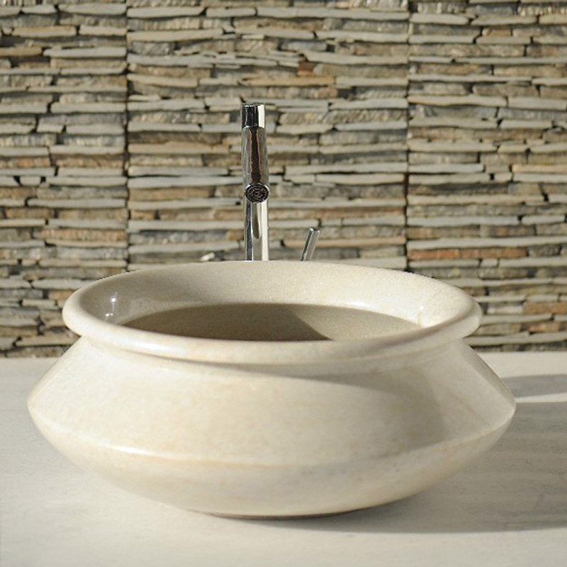 The Aladdin hand basin is designed to sit on your bathroom vanity or countertop.