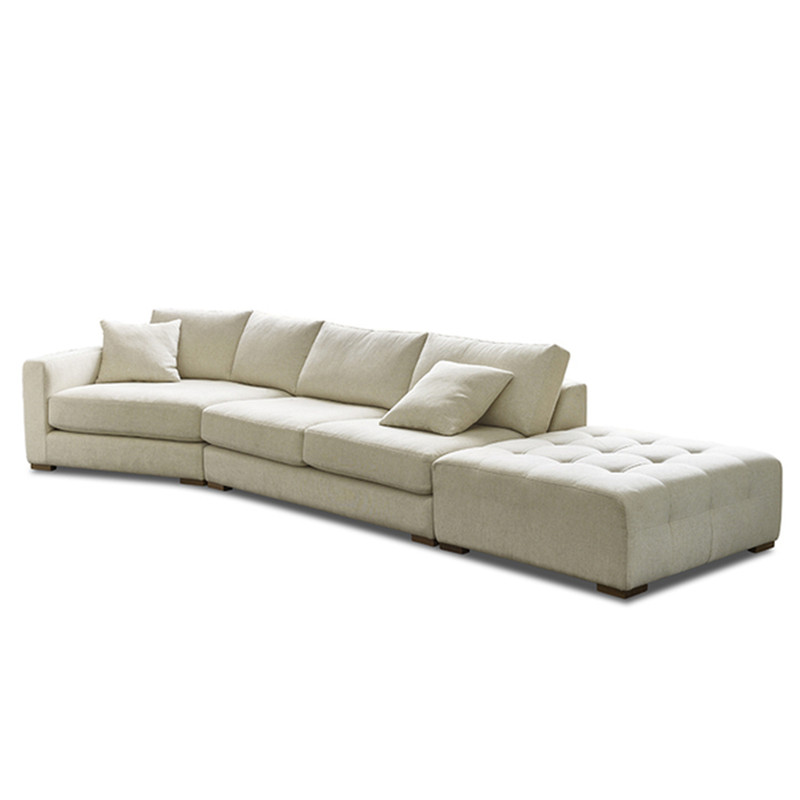 The Dempsey Modular 4 seater sofa is a contemporary design, available in many combinations and sizes. The sofa as shown, features an angled chaise for conversational seating. With Chaise