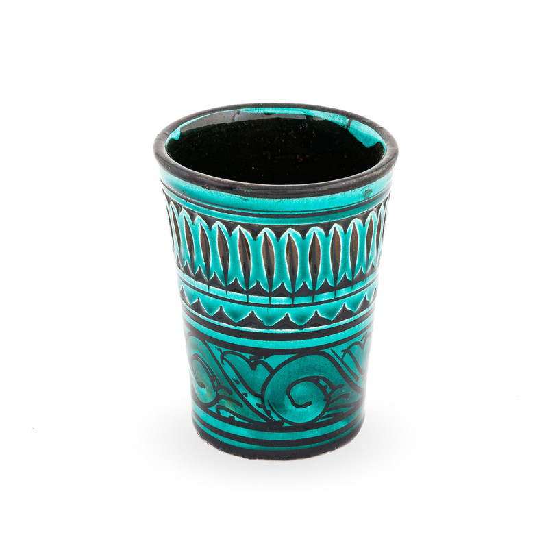 Set of 6 Moroccan Cups Turquoise