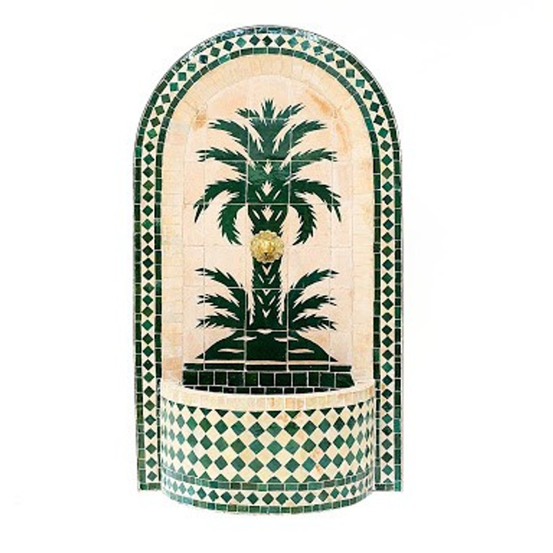 Moroccan Mosaic Water Fountain