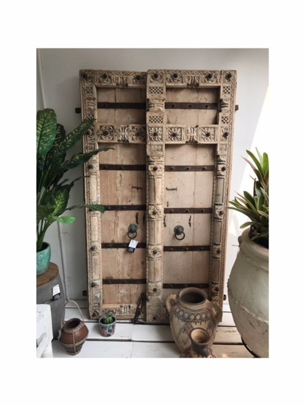 Hand Carved Antique Indian Doors