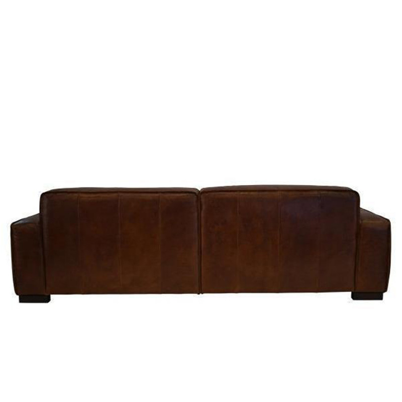 The Surry 3.5 seater sofa is upholstered in our signature aged leather and features a strong contemporary design to compliment your lounge, office or library. Back