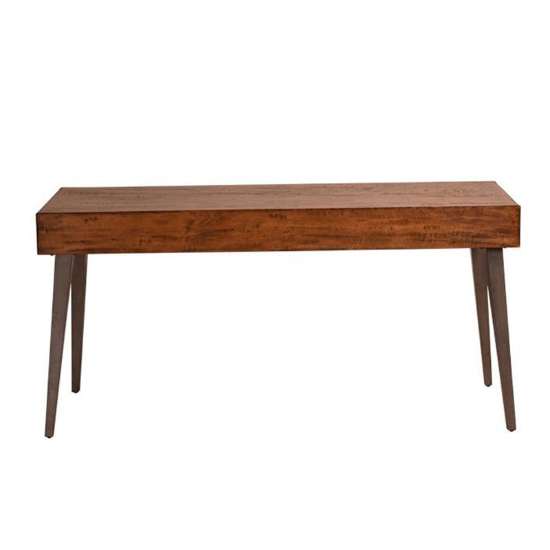 Create a stylish & organised office with our Writers Desk. Made from natural fruit wood, this beautiful desk has an organic feel to create a successful work environment. The top has a large space for your monitor, books, paperwork and has a single drawer. Rear view