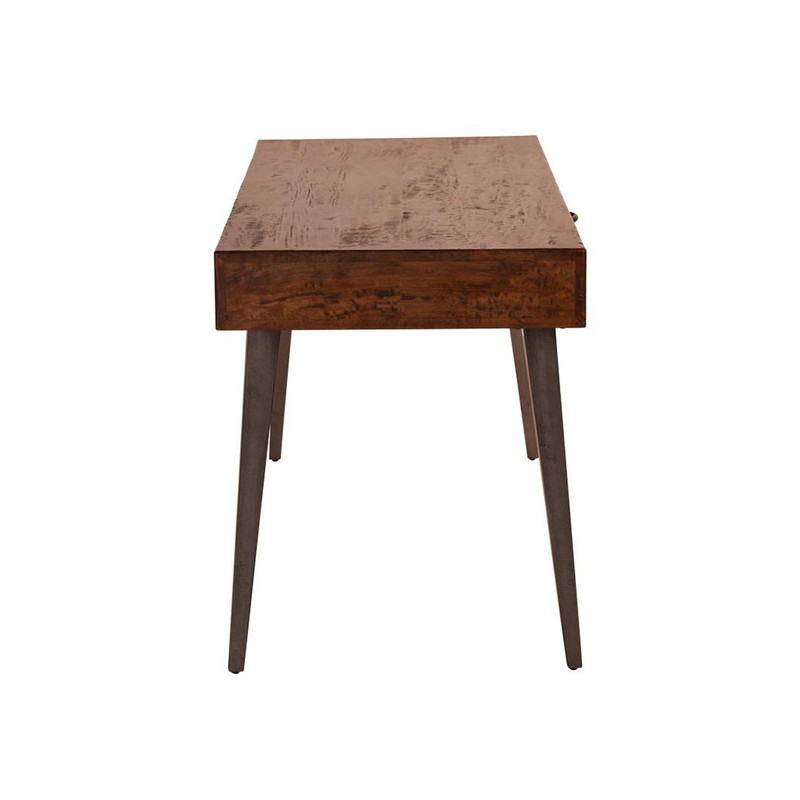 Create a stylish & organised office with our Writers Desk. Made from natural fruit wood, this beautiful desk has an organic feel to create a successful work environment. The top has a large space for your monitor, books, paperwork and has a single drawer. Side view