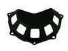 Clutch Cover (Style 8 ) in Matte Plain Weave Carbon Fiber for all four valve head, air cooled Ducati