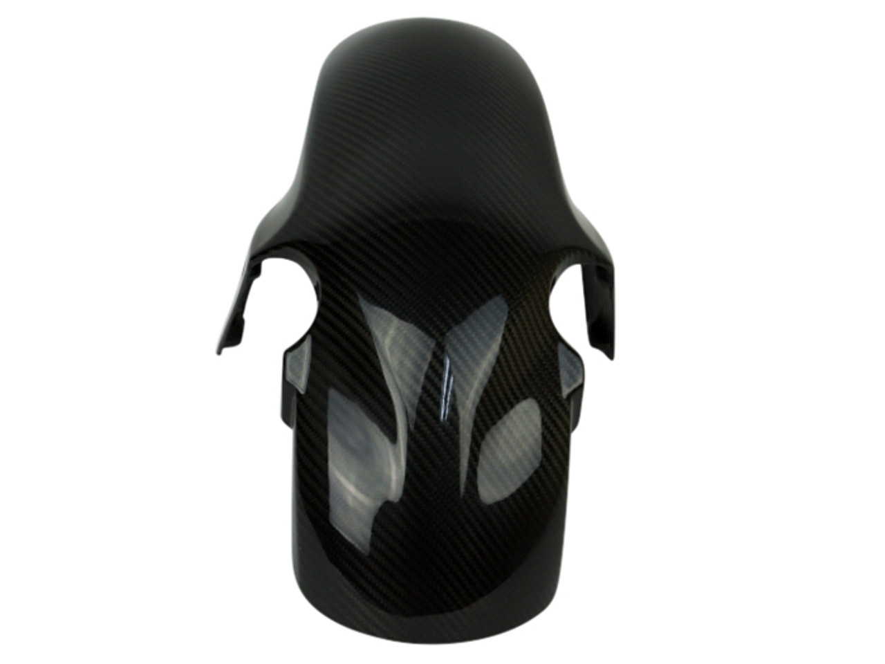Front Fender in Glossy Twill Weave Carbon Fiber