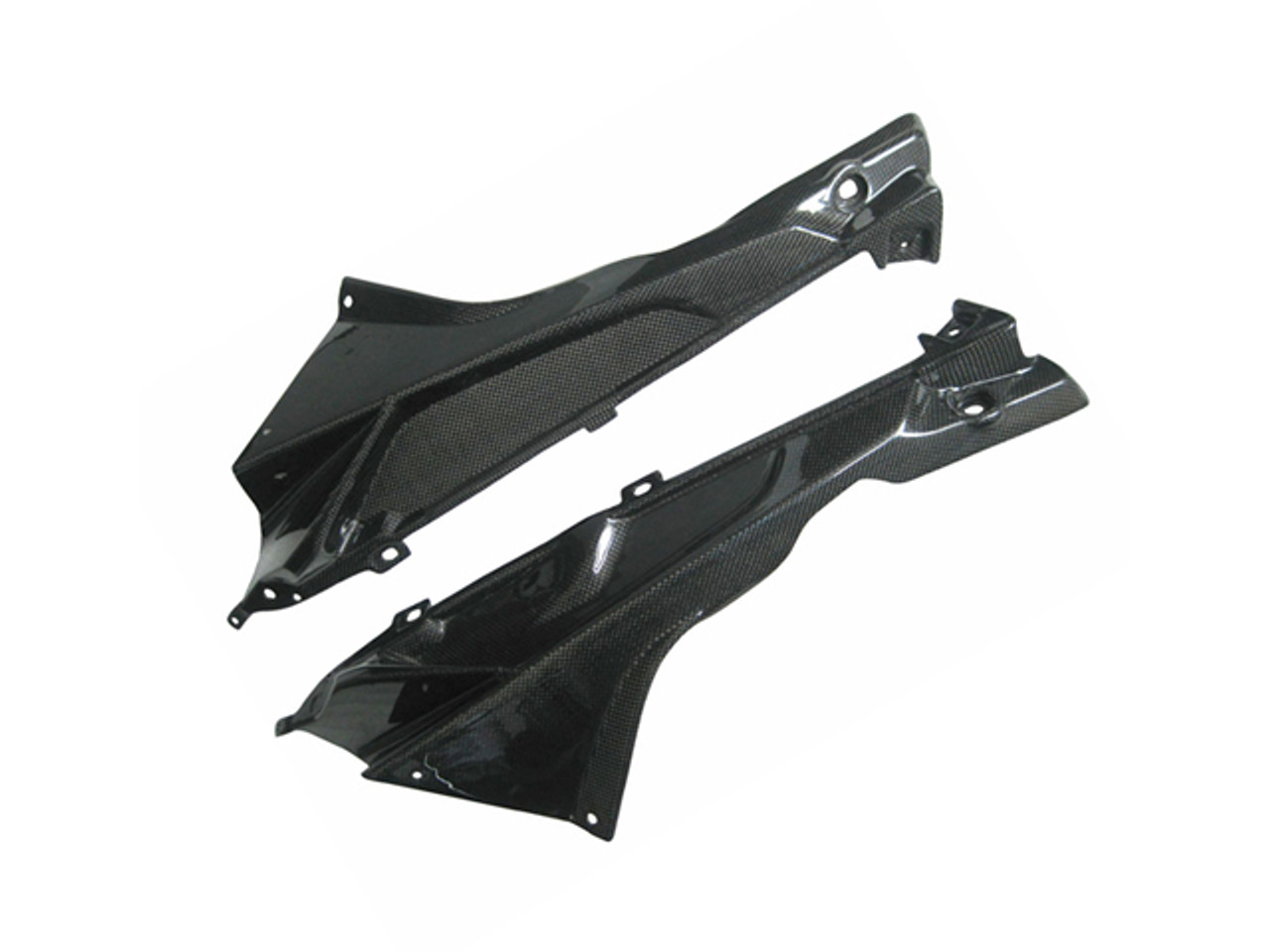 Glossy Plain Weave Carbon Fiber  Upper Side Fairings for BMW S1000RR 2009-2014