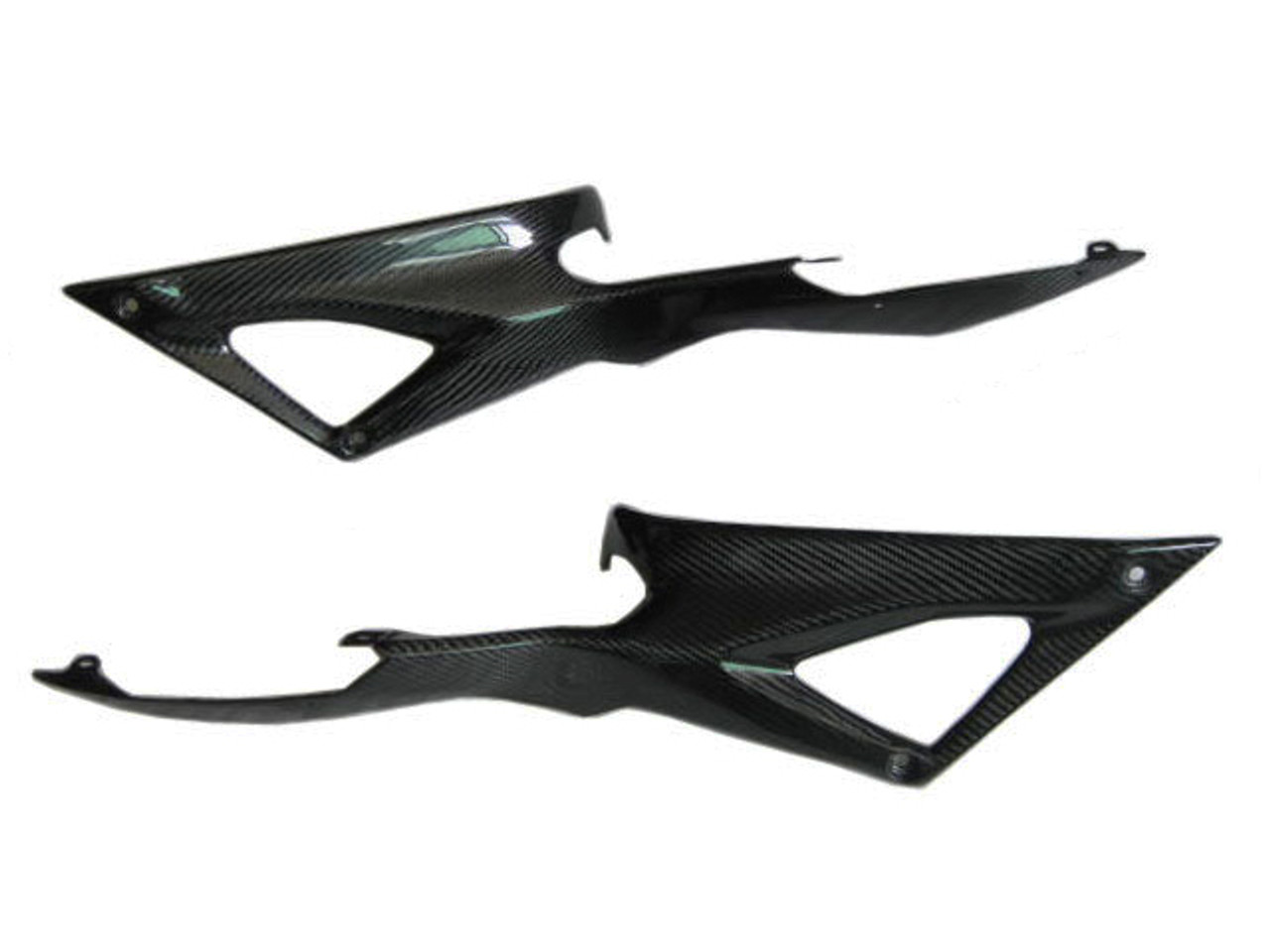 Glossy Twill Weave Carbon Fiber Side Fuel Tank Covers for Ducati 1198,1098, 848
