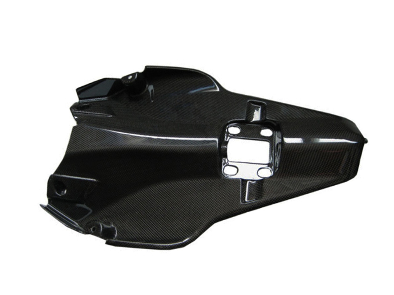 Glossy Plain Weave Carbon Fiber Under Seat Cover for Ducati 1198,1098, 848