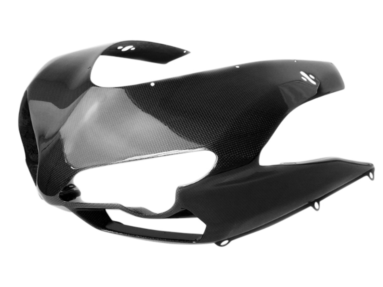 Upper Fairing in Glossy Plain Weave Carbon Fiber for Ducati 1198,1098, 848