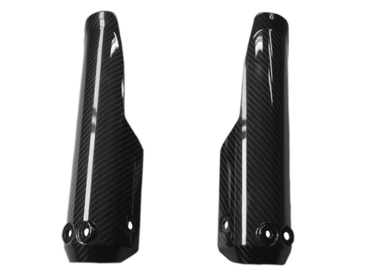 Fork Protectors (Desert Sled) in Glossy Twill Weave Carbon Fiber