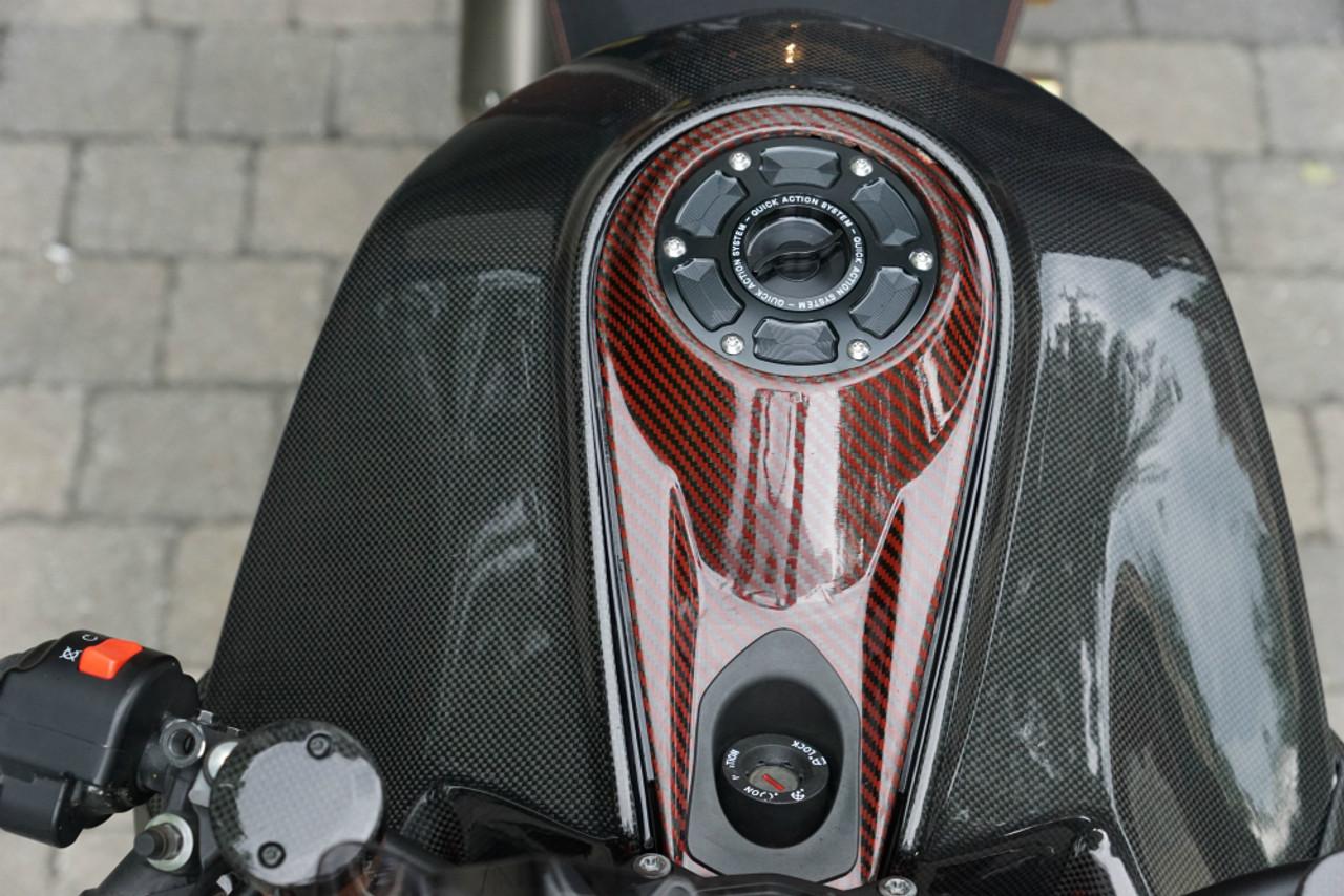 Full Tank Cover in 100% Carbon Fiber for KTM 1290 Super Duke R 2014-2019