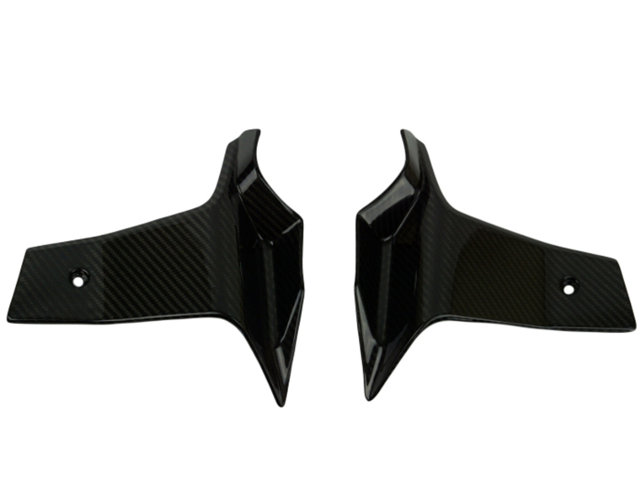 Radiator Spoilers in Glossy Twill Weave Carbon Fiber for KTM 1290 Super Duke GT