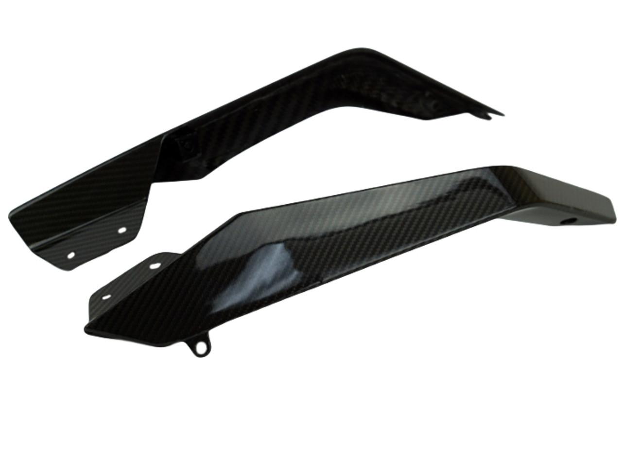 Upper Spoilers in Glossy Twill Weave Carbon Fiber for KTM 1290 Super Duke GT 2017-2018