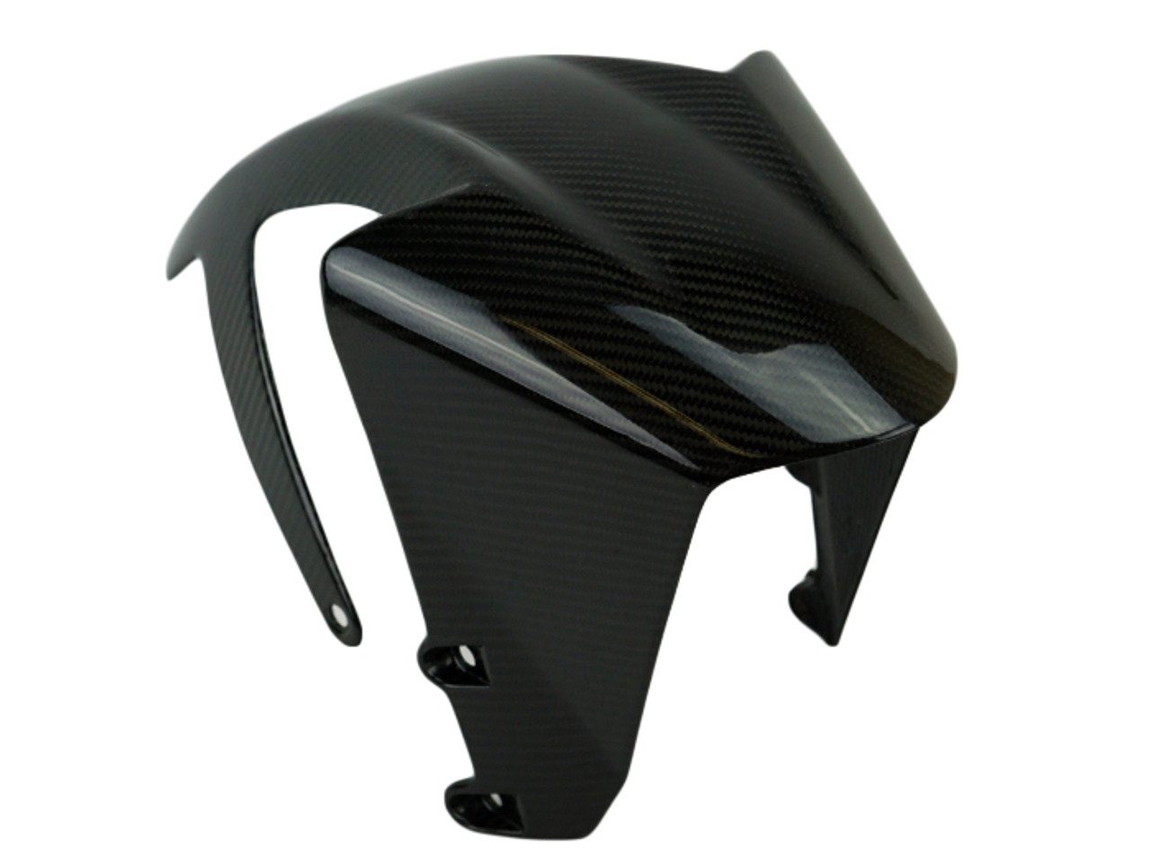 Front Fender ( integral ) in Glossy Twill Weave Carbon Fiber for KTM RC390, Duke 390 2017+