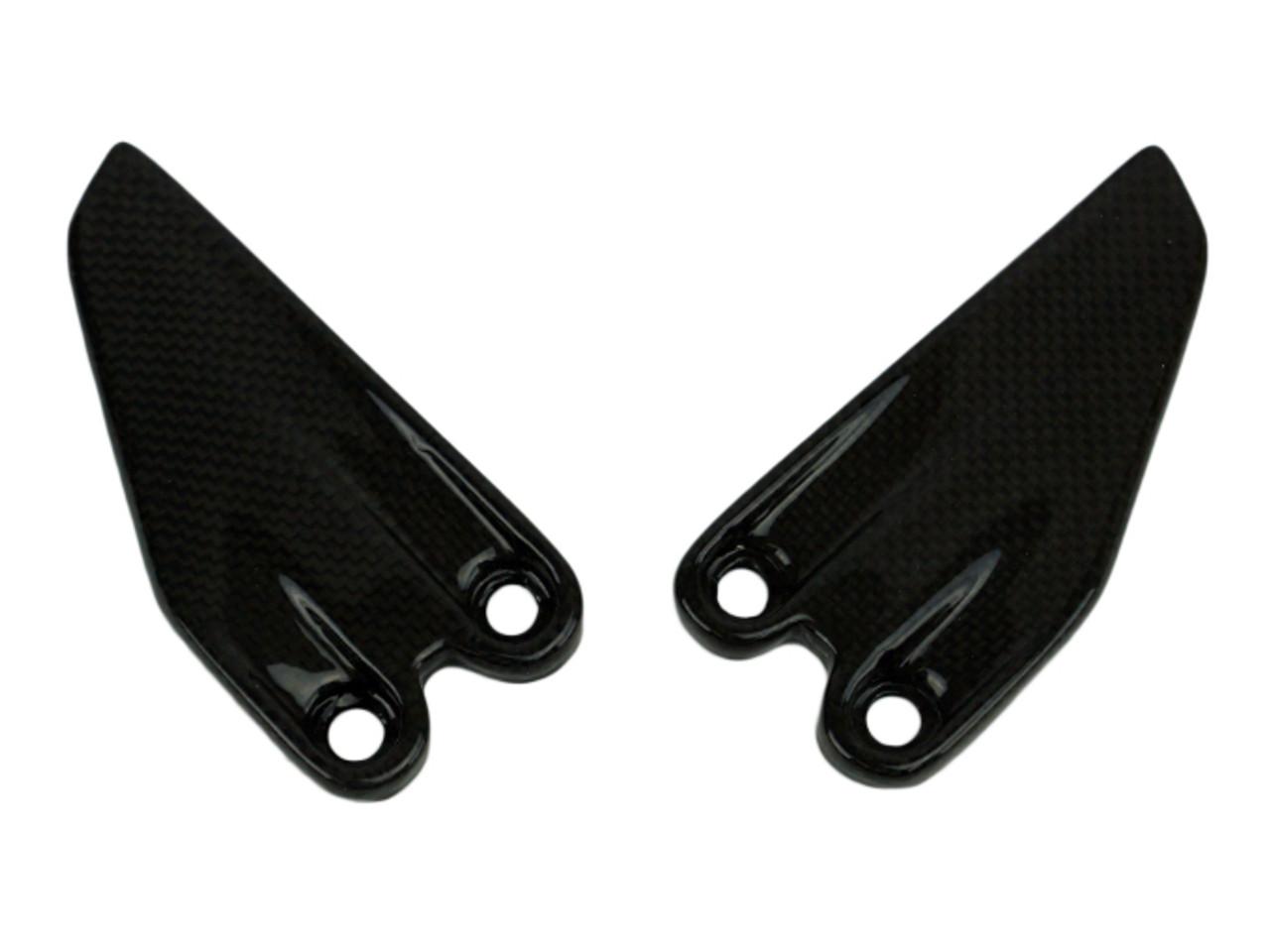 Heel Guards in Glossy Plain Weave Carbon Fiber for KTM Duke 390 2017+