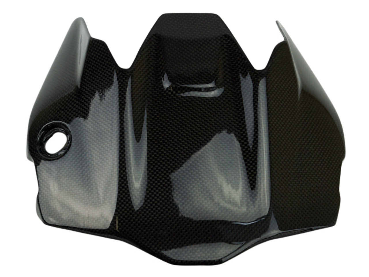 Undertray in Glossy Plain Weave Carbon Fiber for Ducati Monster 821 2018+ and 1200(S) 2017+