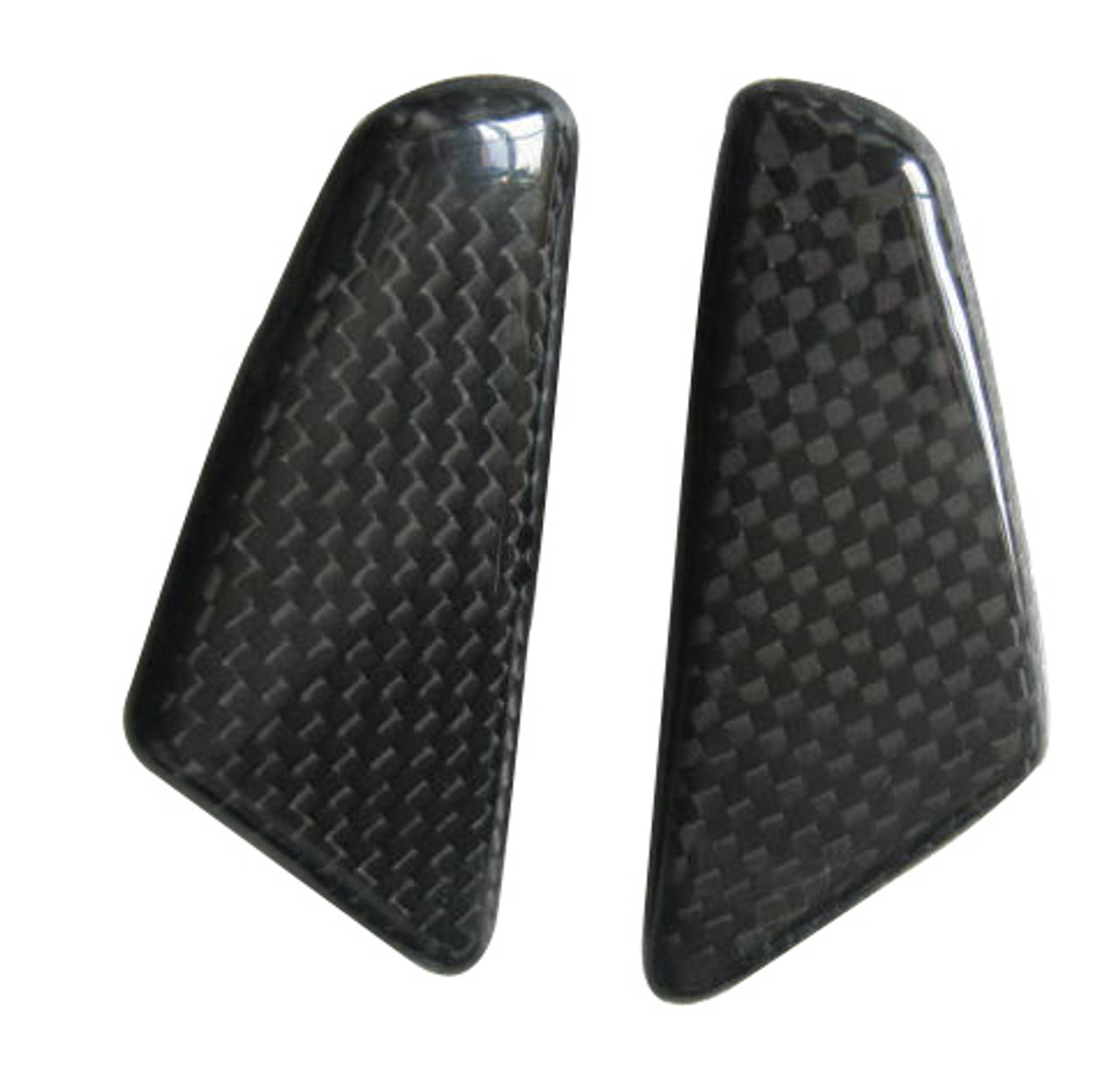 Glossy Plain Weave Carbon Fiber Mirror Blockoff Plates for Ducati Panigale 899, 1199 2012+