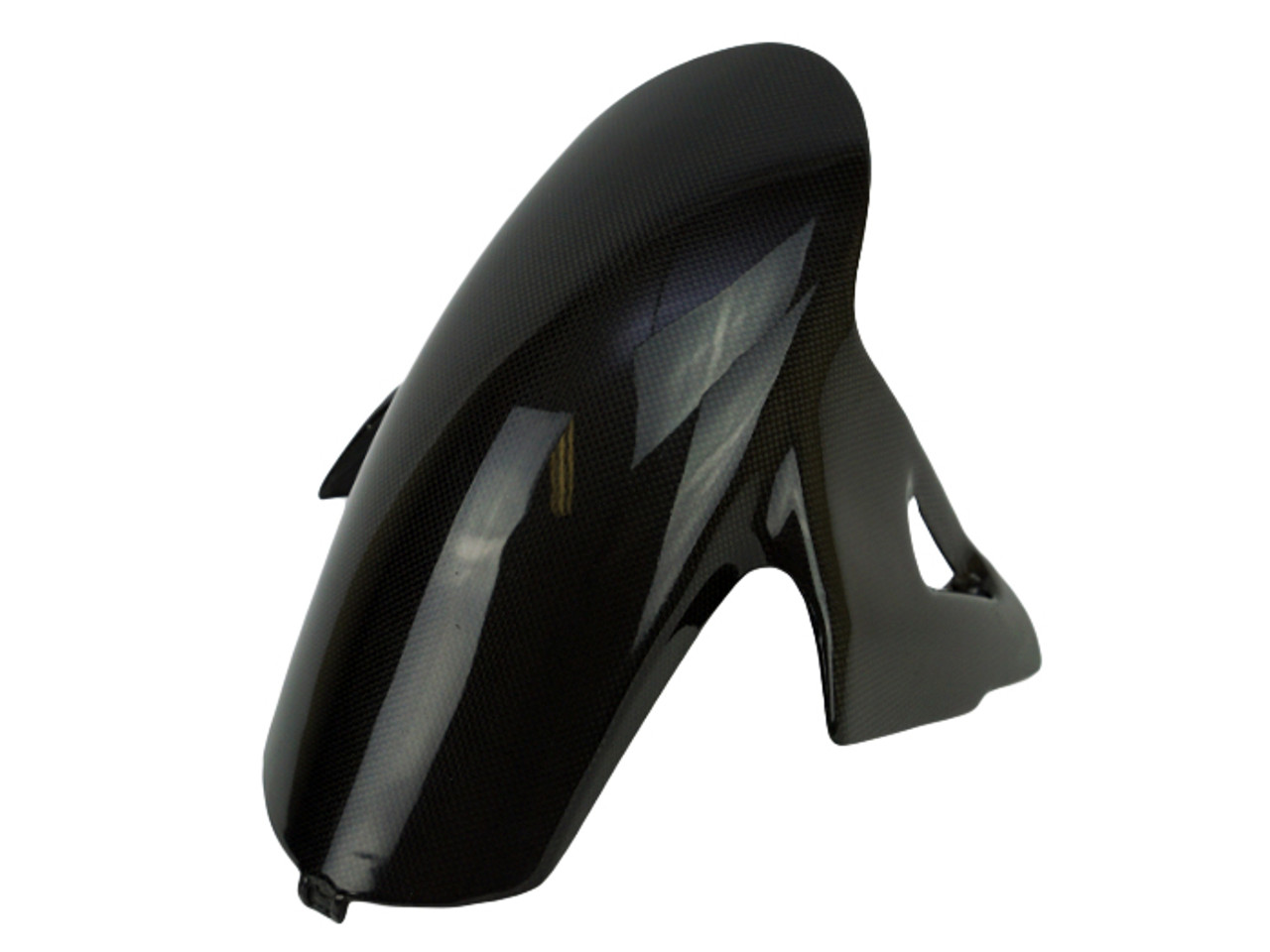 Front Fender in Glossy Plain Weave Carbon Fiber for Ducati Panigale V4, Streetfighter V4