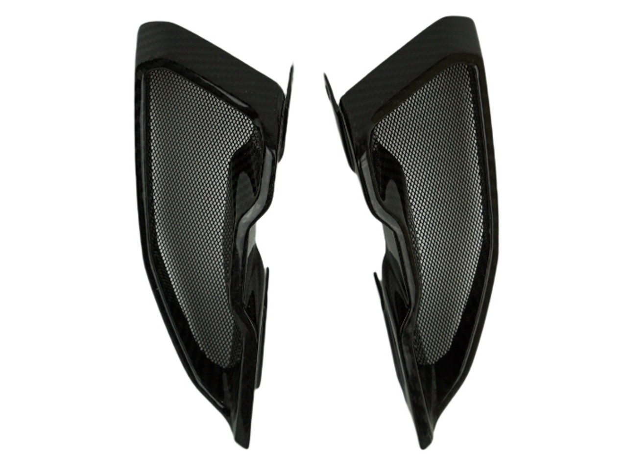 Air Intakes in Glossy Twill Weave Carbon Fiber for Yamaha FZ-10-MT-10