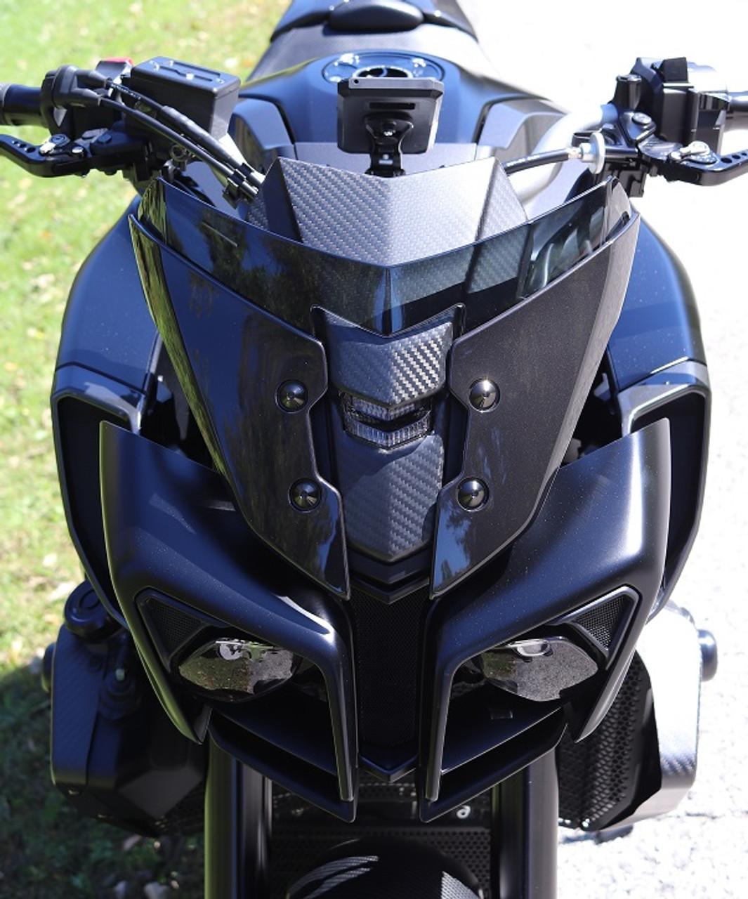 2x2 twill 2017-2018 Yamaha FZ10 MT10 Carbon Fiber Front Upper Windscreen
