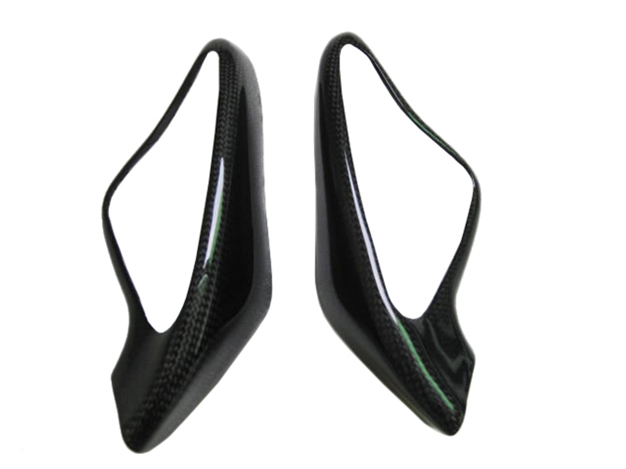 Mirror Covers in Carbon with Fiberglass for Ducati 1198,1098, 848
