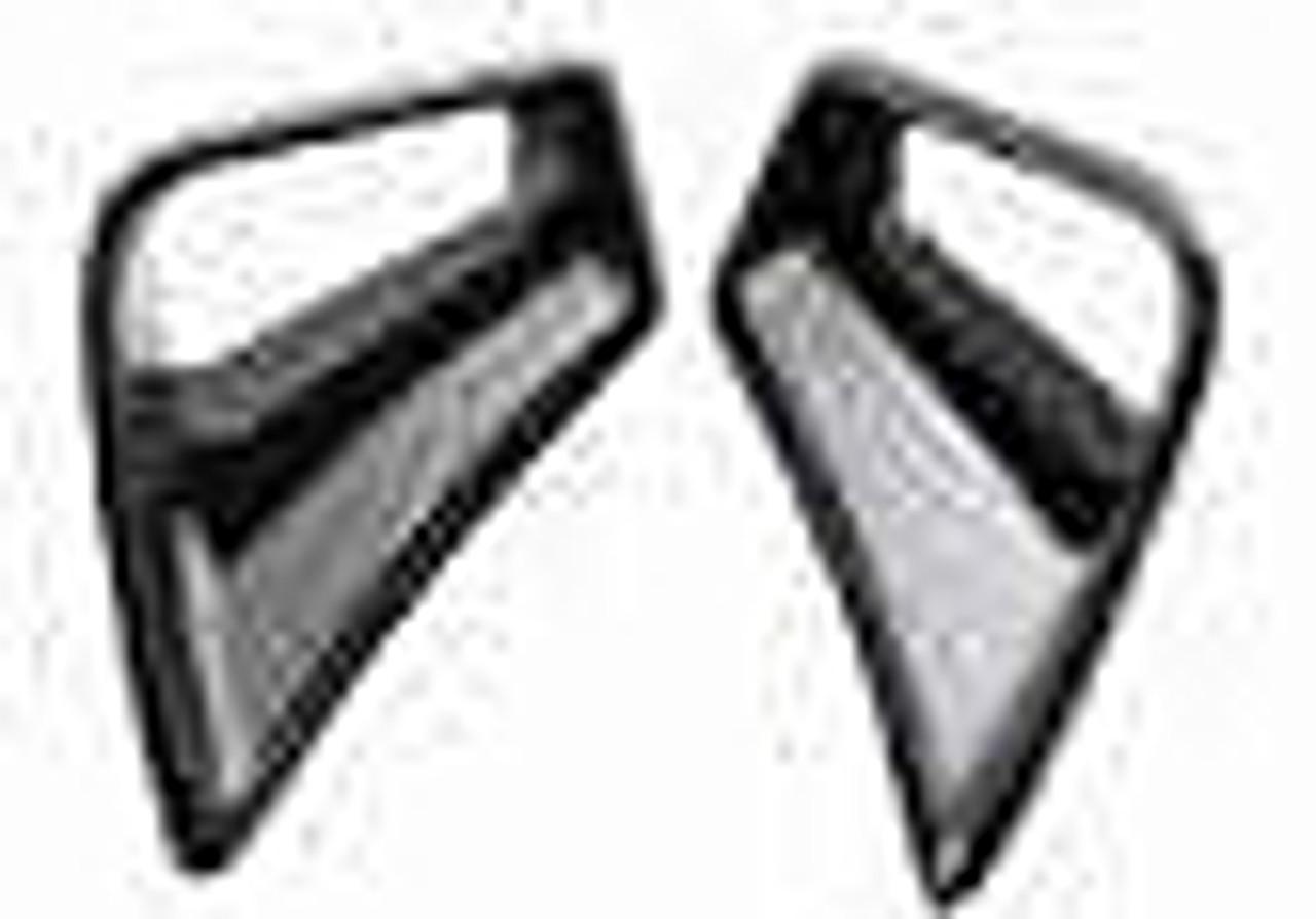 Seat Duct for Ducati 1198,1098, 848 in Glossy Plain Weave Carbon Fiber