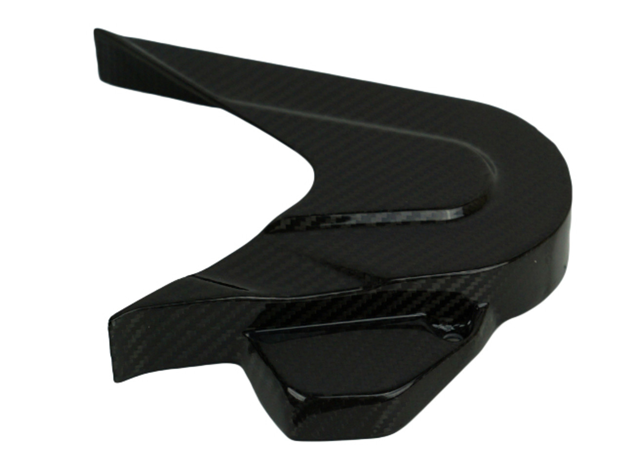 Sprocket Cover in Glossy Twill Weave shown for KTM Duke 790.