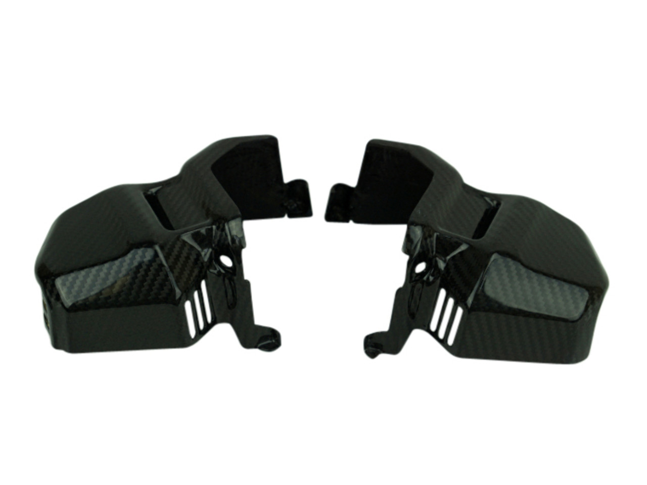 Duct Covers in Glossy Twill Weave Carbon Fiber for Honda CB1000R 2018+