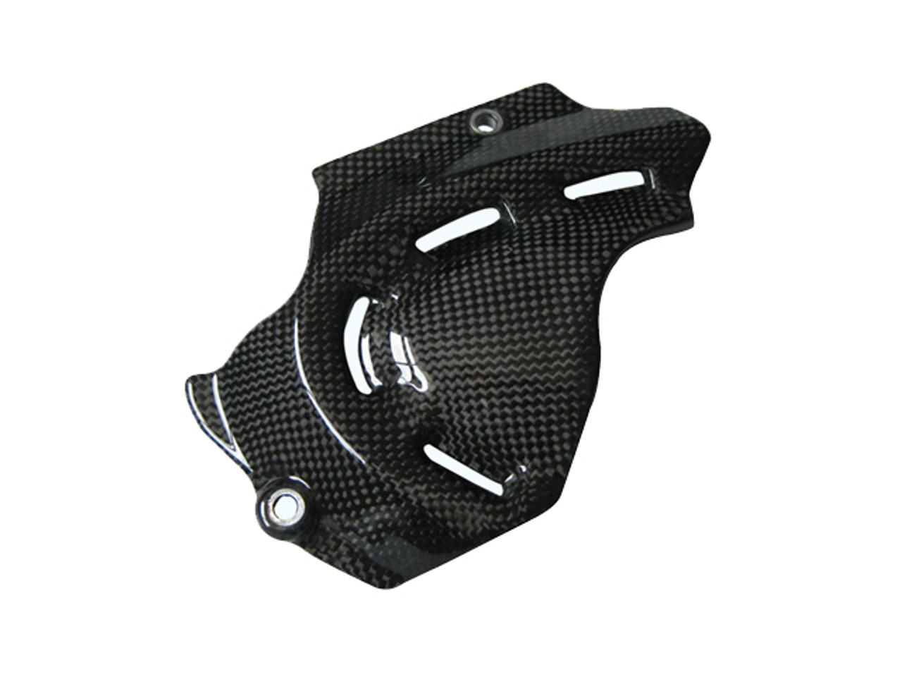 Glossy Plain Weave Carbon Fiber Sprocket Cover for Ducati Monster 696 / 796/ 1100, Streetfighter