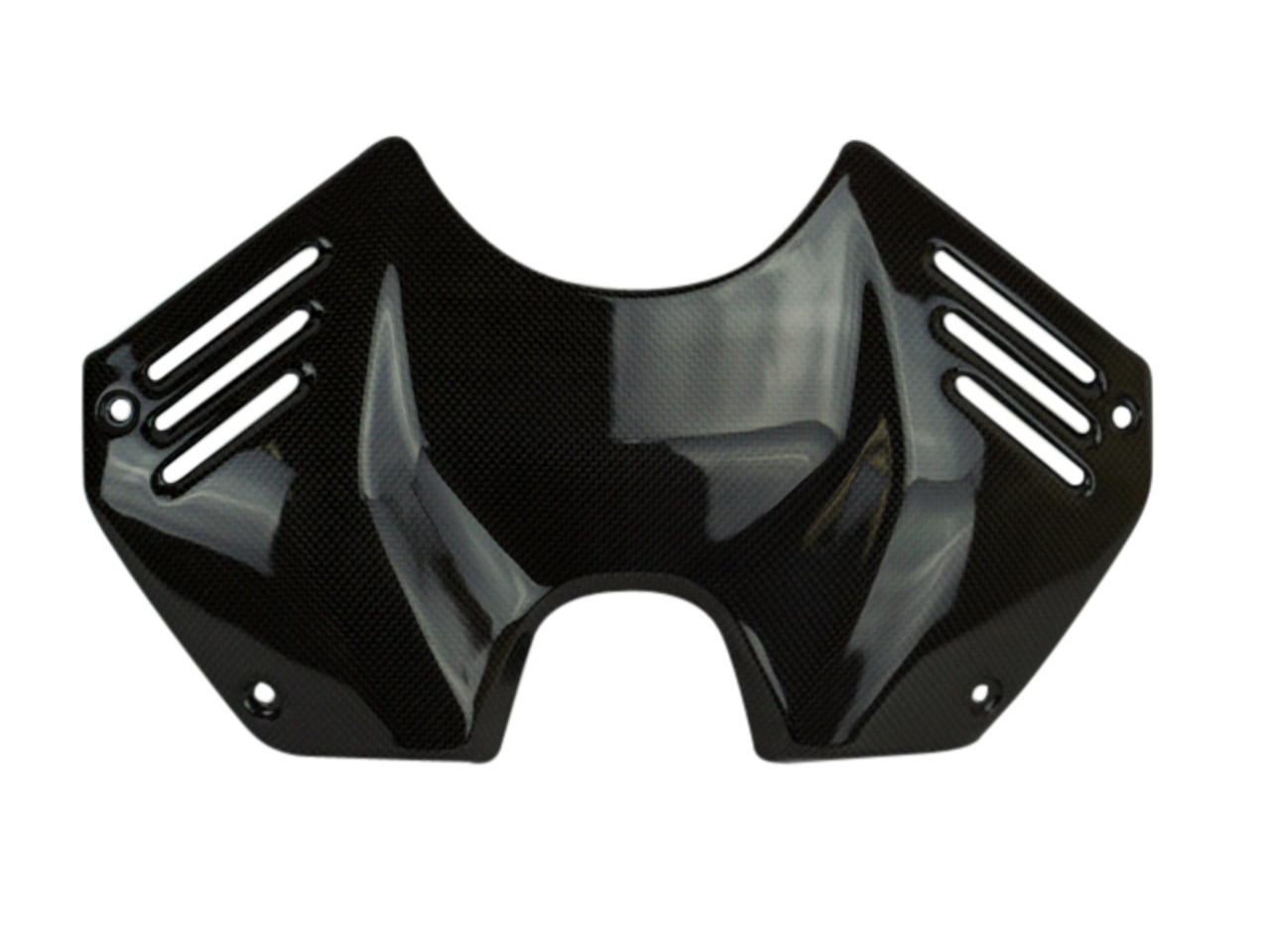 Tank Cover SBK Style in Glossy Twill weave Carbon Fiber for Ducati Panigale V4