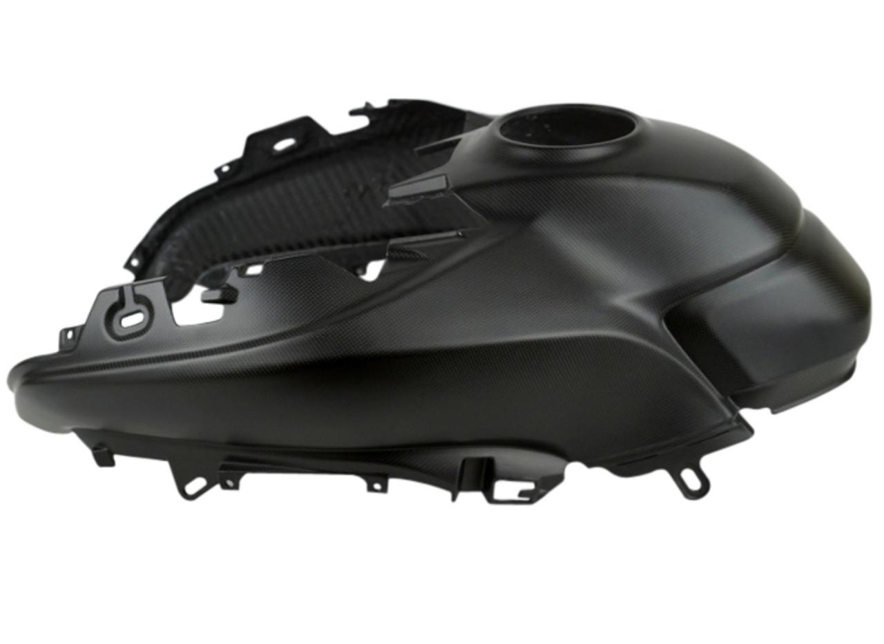 Upper Tank Cover in Matte Plain Weave shown for Ducati Multistrada 950, 1260 2018+, Enduro 1200/1260.