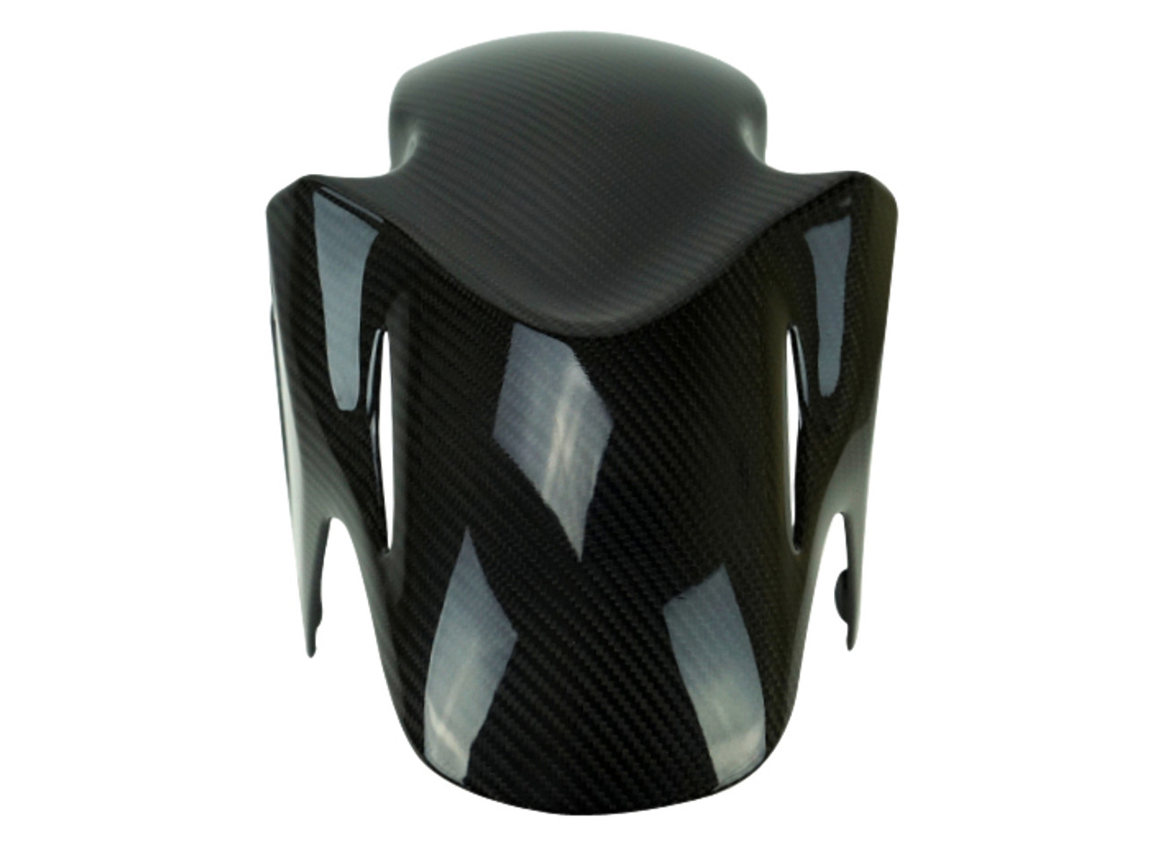 Front Fender in Glossy Twill Weave Carbon Fiber for Honda CBR500R, CB500F, CB500X 2015+