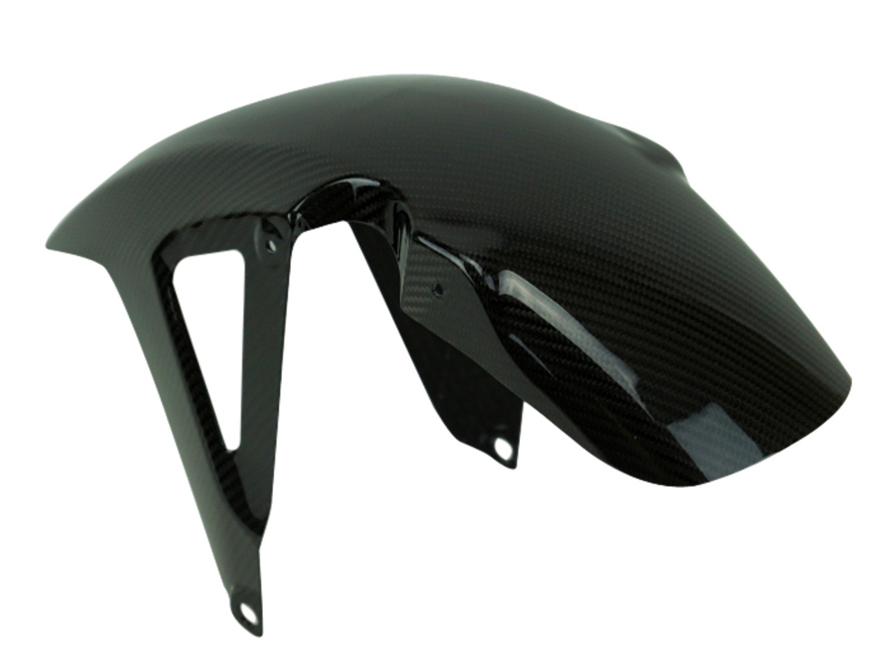 Front Fender in Glossy Twill Weave Carbon Fiber for Honda NC750X 2018+