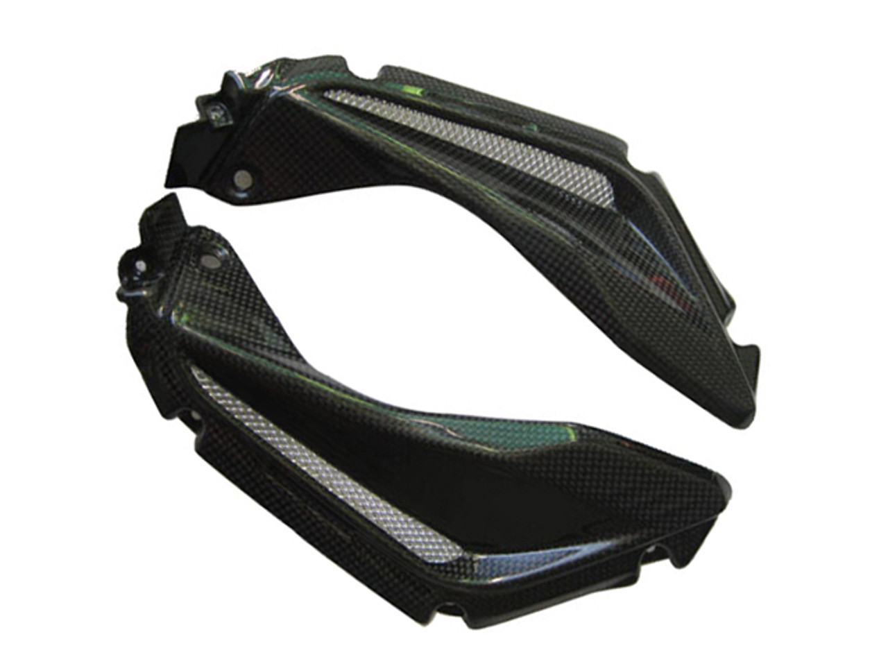 Side Panel Air Extractors for MV Agusta F3 675/800 in Glossy Plain Weave Carbon Fiber