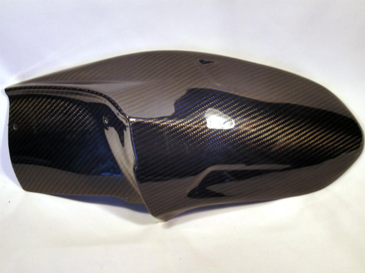 Blue & Black Glossy Twill Weave Carbon Fiber Rear Hugger for MV Agusta F3 , Brutale 675/800, Dragster 14-15